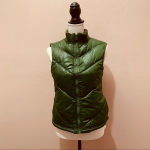 Old Navy Green Puffer Vest with Pockets